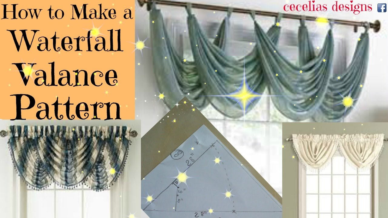 how to make a waterfall valance pattern youtube. Black Bedroom Furniture Sets. Home Design Ideas