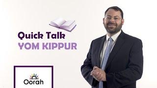 Quick Talk - Yom Kippur in three minutes with Rabbi Eli Bohm