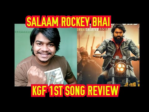 Salaam Rocky Bhai Song Review   KGF Chapter 1 Song  First song  Yash   Lahari music  Hombale films