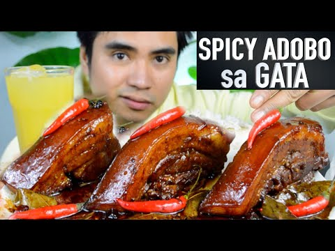SPICY ADOBO SA GATA | MUKBANG PHILIPPINES | FILIPINO FOOD | PINOY MUKBANG