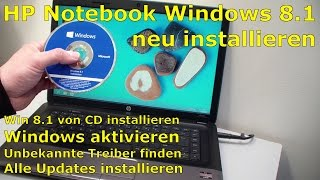 HP 655 Notebook Windows neu installieren - Hewlett-Packard Laptop neu aufsetzen