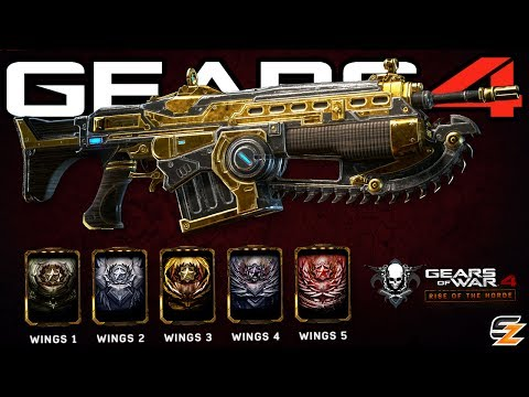 Gears of War 4 New Wings Re Ups, Wings Weapon Skins & How to Unlock them!