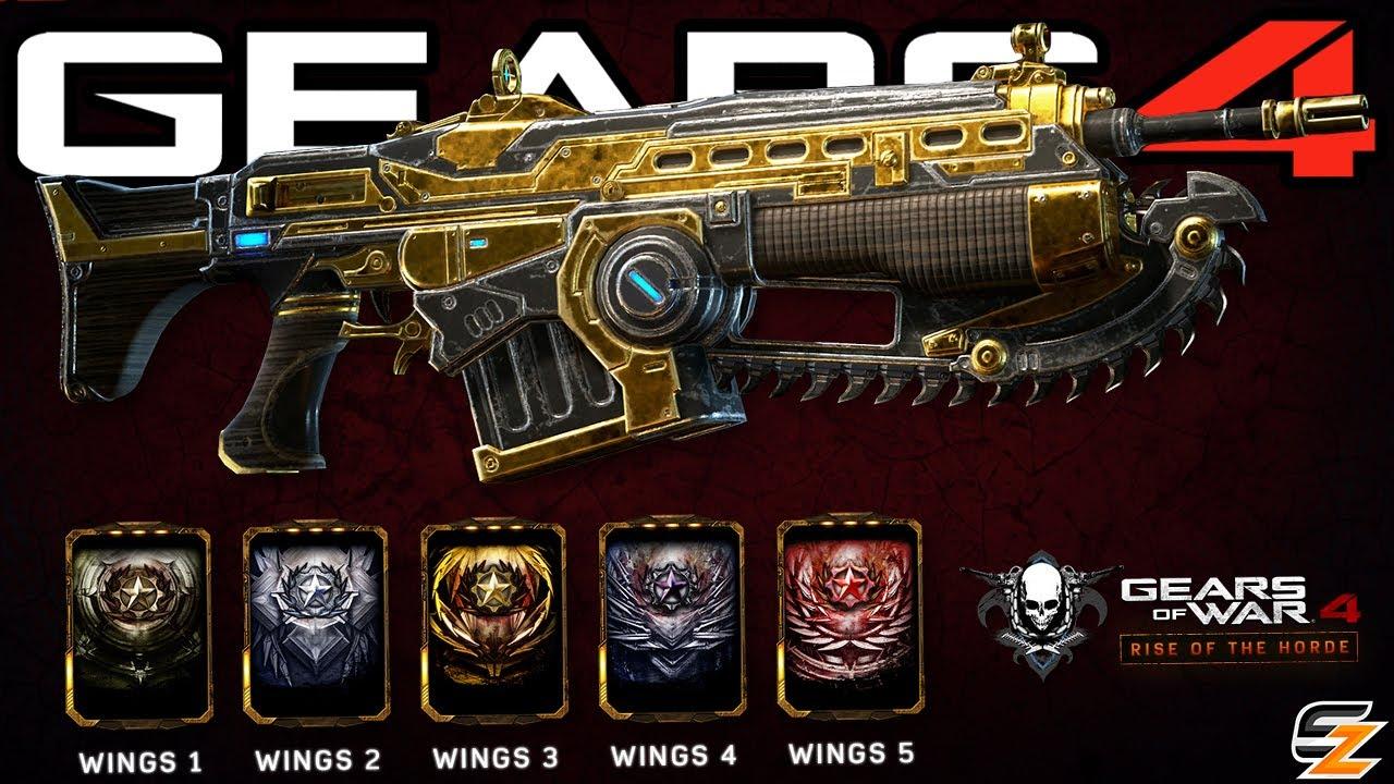 Gears Of War 4 New Wings Re Ups Wings Weapon Skins How To Unlock