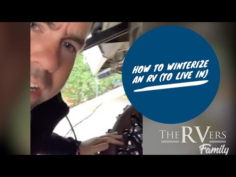 Preparing an RV to live in for winter (not really winterize, but close)