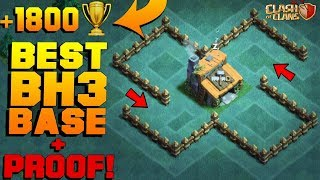 BEST BUILDER HALL 3 DEFENCE BASE WITH PROOF! BH3 UNDEFEATED BUILDER BASE 2017! - CLASH OF CLANS(COC)