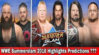WWE Summerslam 2018 Results predictions | WWE summerslam 2018 spoilers | summerslam 2018 matches
