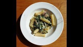 Mozzarella, spinach and bacon Pasta in 15 Minutes