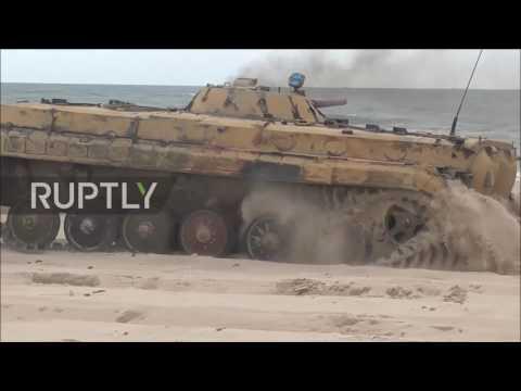 Poland: US marines join beach landing near Ustka in NATO BALTOPS drills