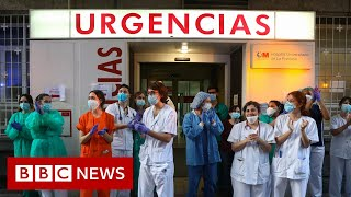 Coronavirus: Spanish deaths fall for fourth consecutive day - BBC News