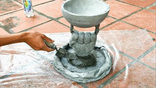 DIY - Creative Flower Pot Ideas // Cement Flower Pots Made From Ball And // Glove  Garden Design