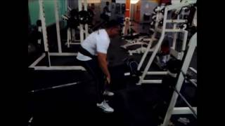 RoadPigJohn Back Training With Six Plates Of 45 Pounds