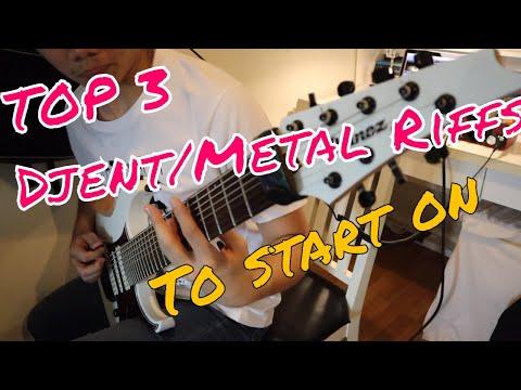 top 3 djent/metal songs to start playing on guitar  #djent #ibanez #metal