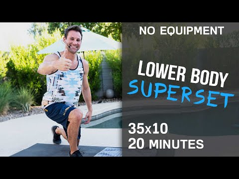 Lower Body Superset Workout (No Equipment)