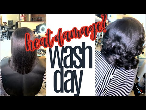 NATURAL HAIR | FIRST WASH DAY AFTER STRAIGHTENING MY TYPE 4 HAIR! heat damage? will it fully revert?