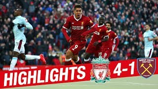 HIGHLIGHTS: Liverpool 4-1 West Ham | Reds reach 100 goals for the season