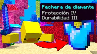MINECRAFT pero NADAR ME DA ITEMS OP