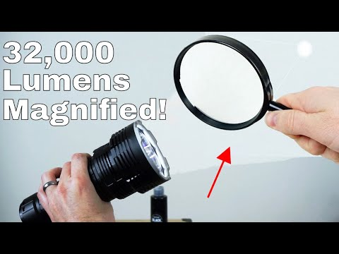 What Happens If You Magnify the Worlds Brightest Flashlight? (Blackest Black Video Follow-Up)