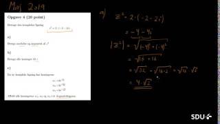 2019-05 Opgave 4 - Komplekse ligninger