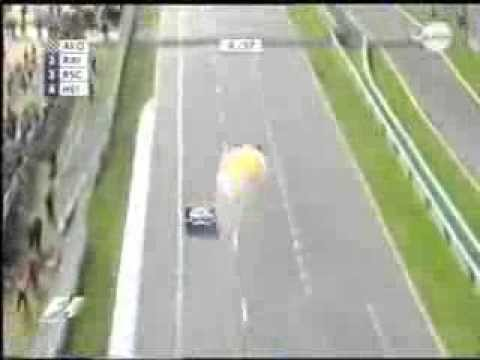 F1 2006 Australia - Jenson Button - Engine explosion just before the end of the race