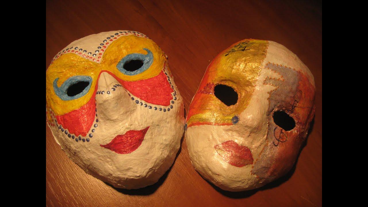 новогодняя маска из папье маше своими руками
