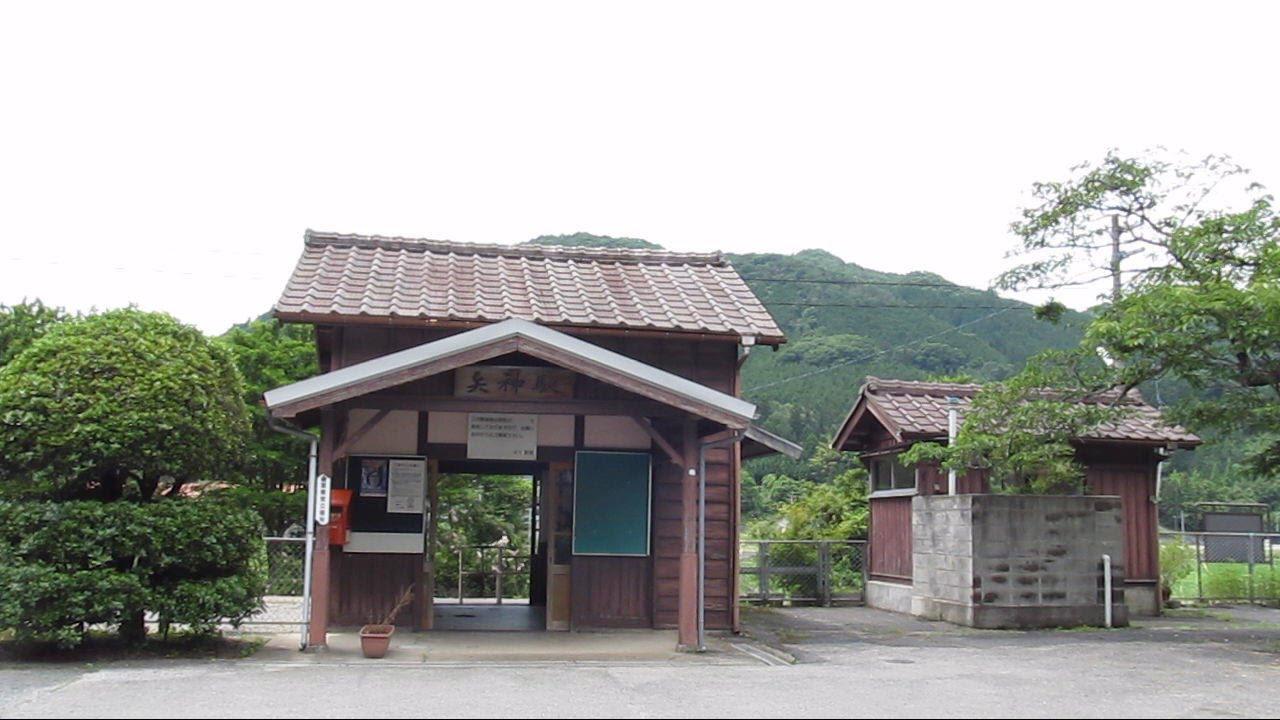 JR芸備線・矢神駅「御衣黄桜の咲...