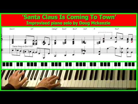 'Santa Claus Is Coming To Town' - jazz piano tutorial