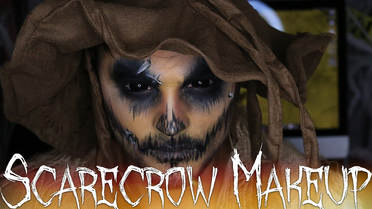 Scarecrow Halloween Makeup Tutorial | 31 Days of Halloween - YouTube