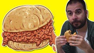 Islak Hamburger Yeme Kapışması - Kim Pes Edecek?