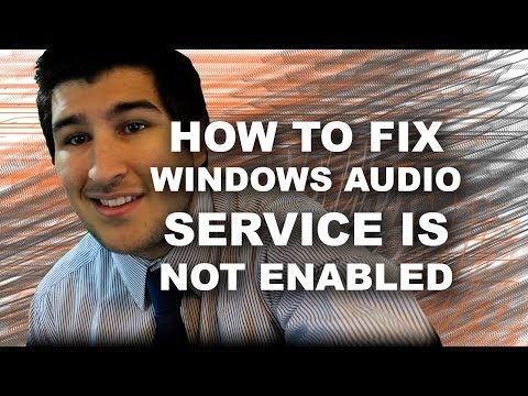 "How to Fix,""Windows Audio Service is Not Enabled"" With Subtitles"