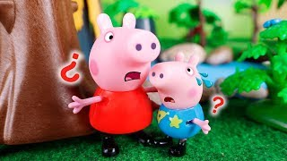 Peppa Pig Toys 🐷 Peppa get lost in the forest 😮🌳🙂