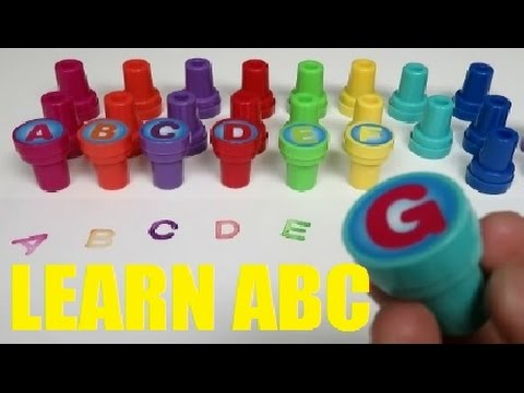 LEARN the ABC Alphabet with color letters stamps for Toddlers  -  ABC song