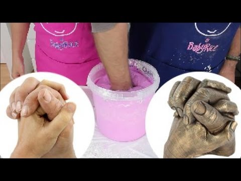 Create a 3D Holding Hands Plaster Cast - using our Adult Hand Casting Kit  with our 5L Containers