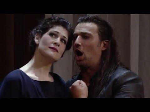 Anja Harteros and Jonas Kaufmann in act one of LA FORZA DEL DESTINO