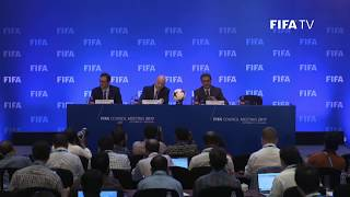 live now  fifa council press conference