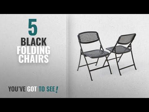Top 10 Black Folding Chairs [2018]: Mity-Lite Flex One Folding Chair, Black, 4-Pack