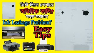 ink leakage problem in epson, canon, hp, brothers & all colour printers