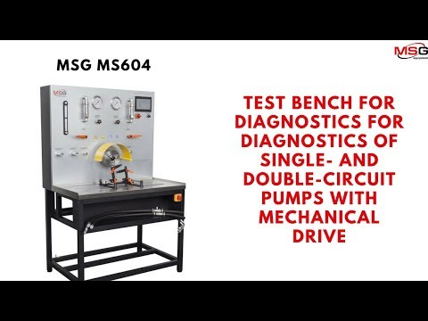 MS604 Test Bench for Power Steering Pumps - Diesel World Pvt