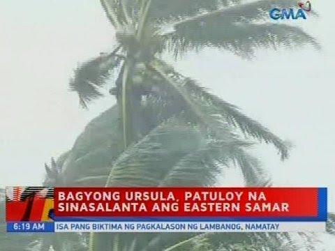 UB: Bagyong Ursula, patuloy na sinasalanta ang Eastern Samar