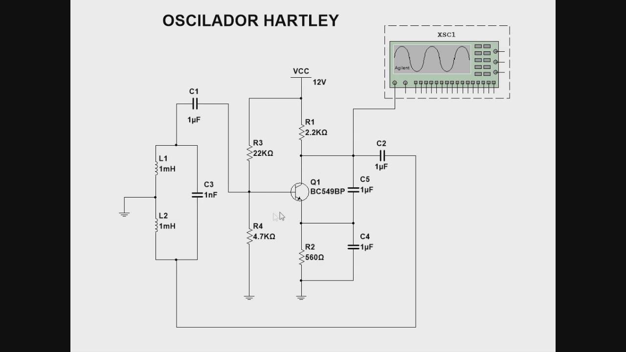 Circuito Oscilador : Oscilador hartley youtube