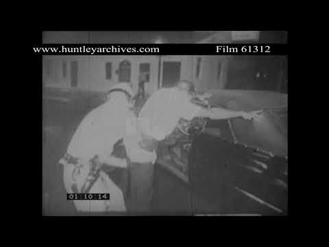 Detroit, June 1967.  Police arrest car driver.  Archive film 61312