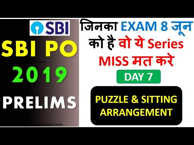 Expected Puzzles and Direction Question for SBI PO (जिनका EXAM 8 जून को है वो ये Series MISS मत करे)