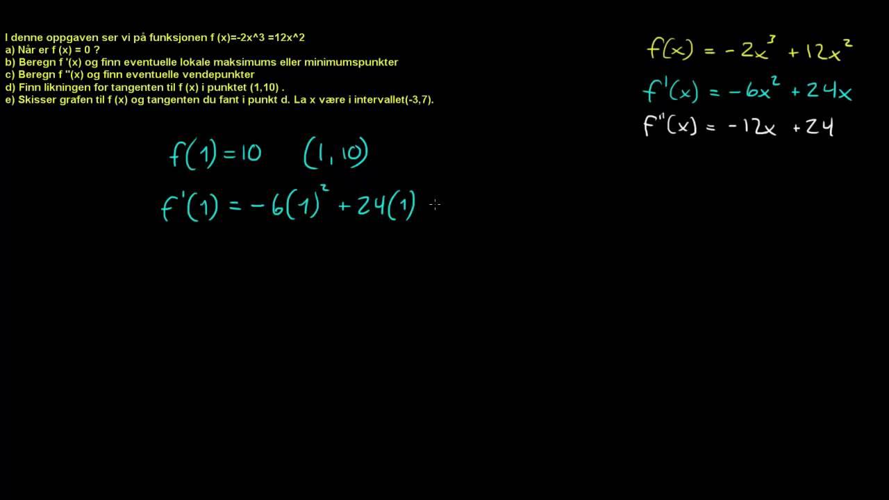 Finne likning til tangent