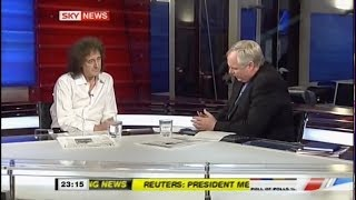 Brian May with Adam Boulton - Save Me Launch 13/04/2010