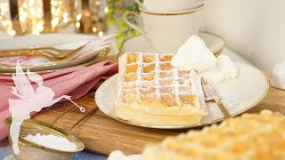Dicke Belgische Waffeln Rezept zum selber machen - Fluffige Waffeln zu hause backen - Kuchenfee