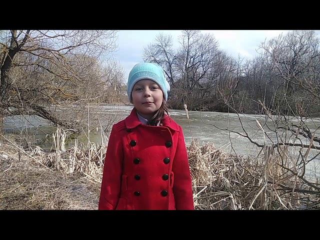 Изображение предпросмотра прочтения – НатальяФедина читает произведение «Сельская песенка» А.Н.Плещеева