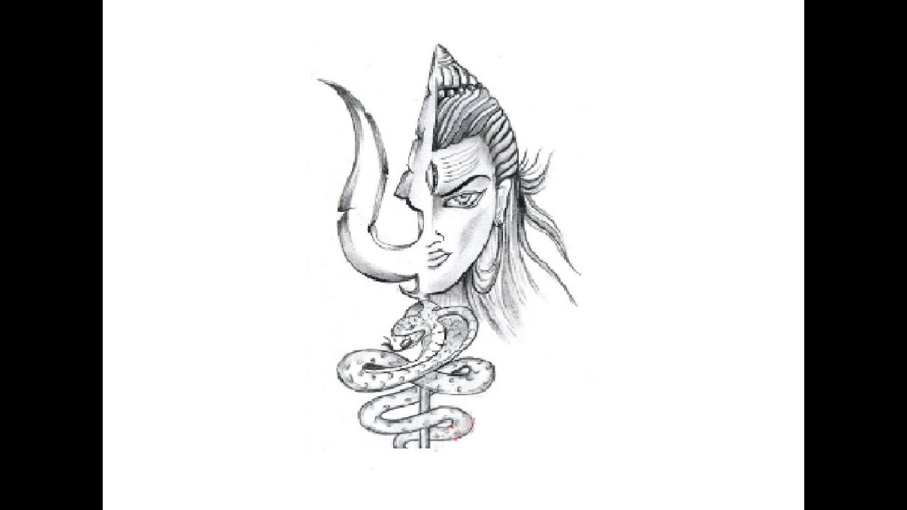How to Lord shiva tattoo pencil drawing step by step