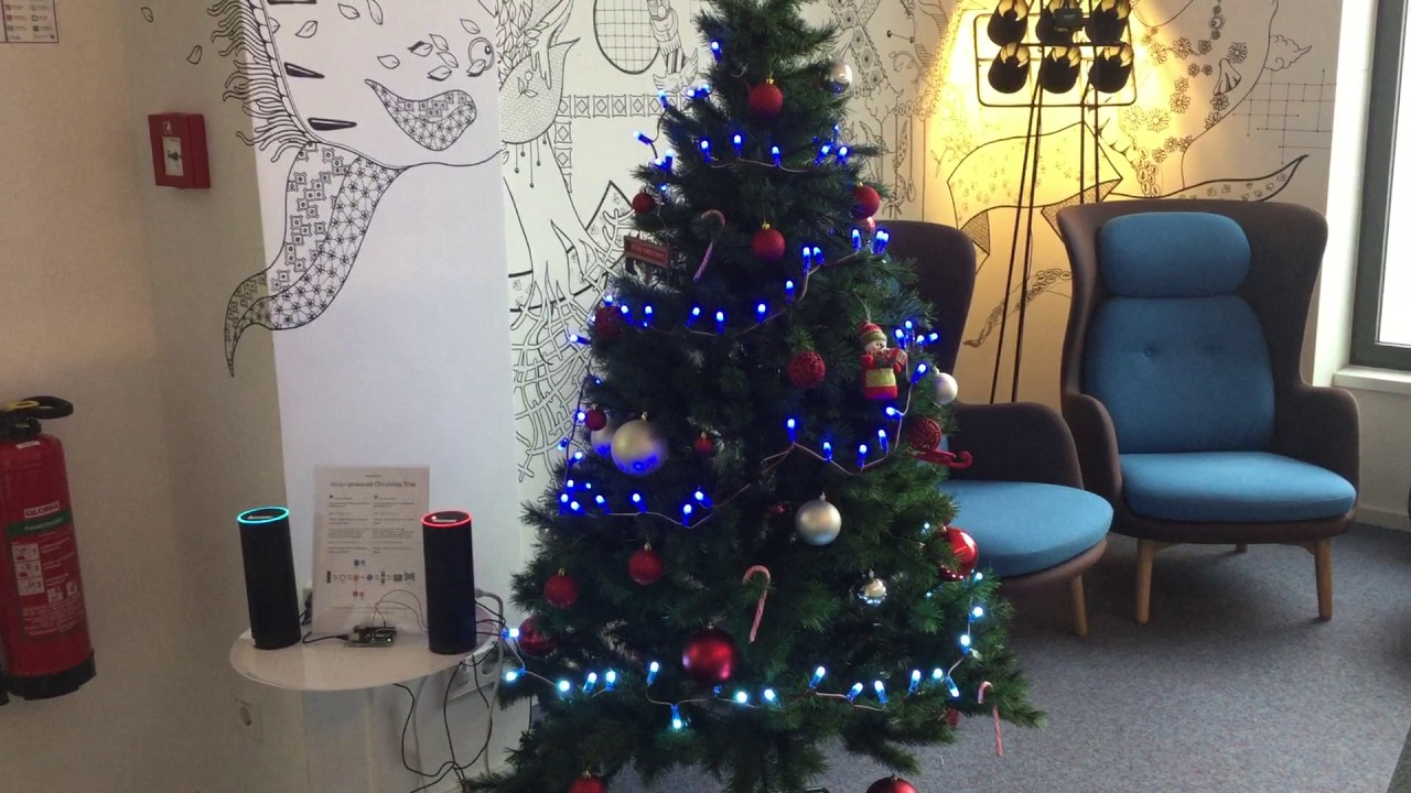 alexa powered christmas tree at amazon office in berlin - Christmas Tree Lights Amazon