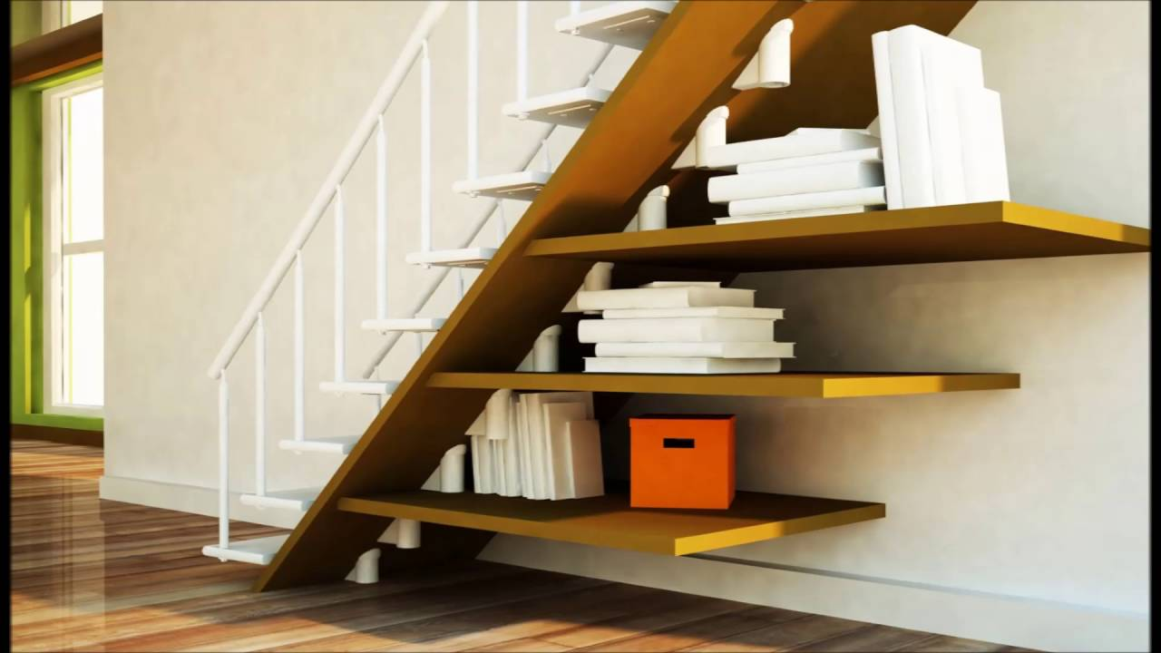 Simple Ideas For Bookshelf Under Stairs Youtube
