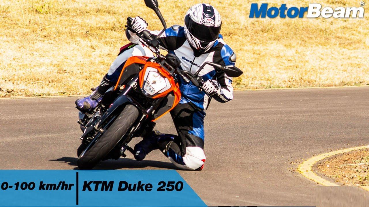 KTM Duke 250 - 0-100 km/hr & Top Speed | MotorBeam
