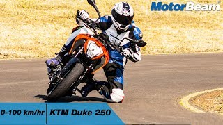 https://www.motorbeam.com tests the acceleration of the KTM Duke 25...